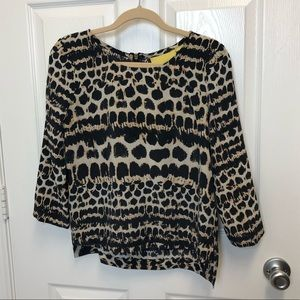 Maeve Cheetah Blouse
